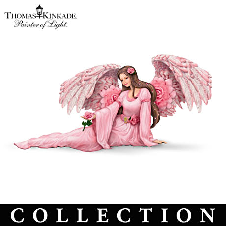 Thomas Kinkade Angel Figurines Inspired By His Garden Art