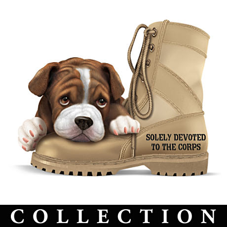 USMC Pride Bulldog Figurine Collection
