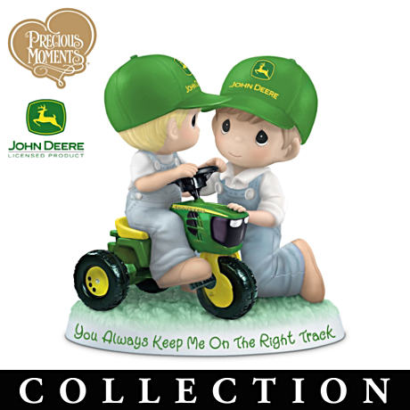 Precious Moments Father And Son John Deere Tribute Figurines