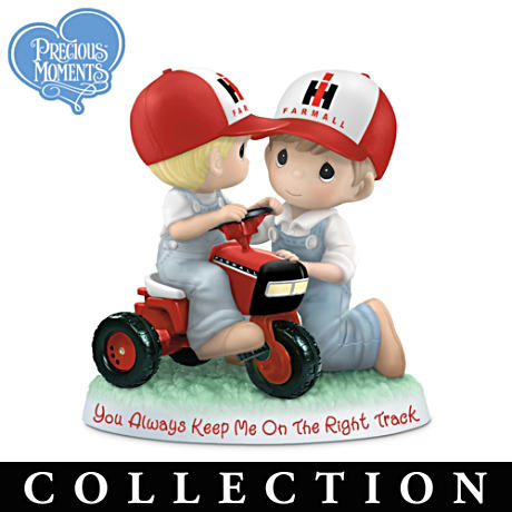 Farmall Precious Moments Figurines Honoring Family Farming