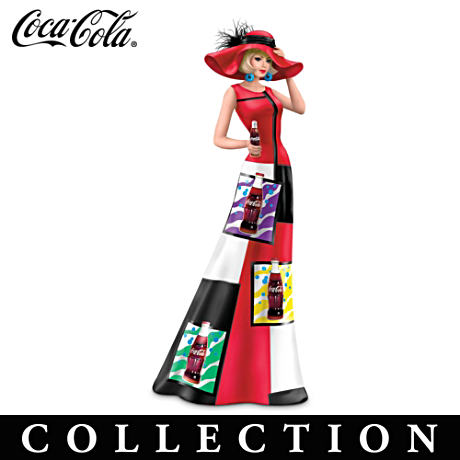 "Coca-Cola Woman Figurines In 1960s Iconic ""Pop Art"" Fashions"