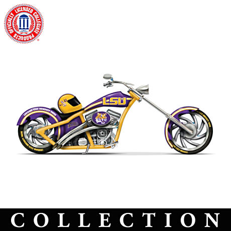Louisiana State University Tigers Motorcycle Figurines