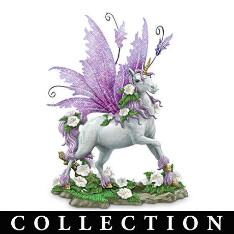 Glow-In-The-Dark Sculptural Unicorns With Metal Wings