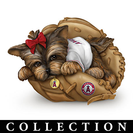 Los Angeles Angels Of Anaheim Yorkie Figurine Collection