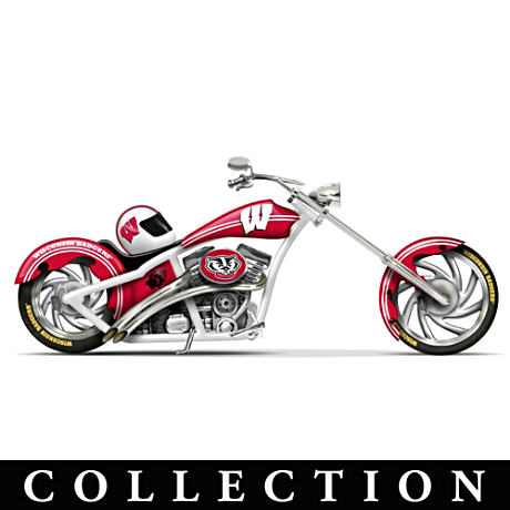 University Of Wisconsin Badgers Motorcycle Figurines