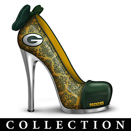 NFL-Licensed Green Bay Packers High Heel Shoe Figurines