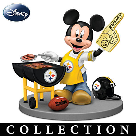 Pittsburgh Steelers Fan Disney Character Figurines