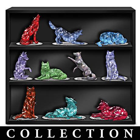 Buy Blake Jensen Rarest Gem-Inspired Wolf Figurine Collection