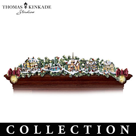 Thomas Kinkade Lighted Village Garland Collection