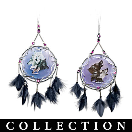 Eddie LePage Wolf Art Ornament Collection