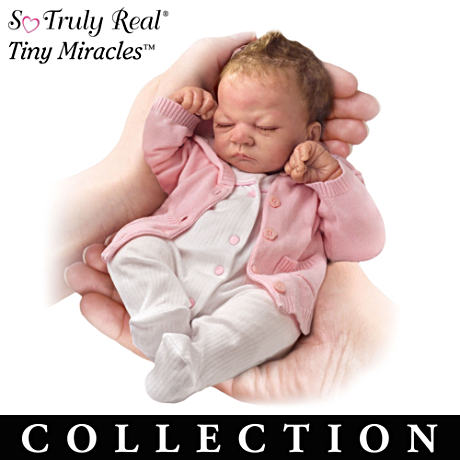 "First-Ever So Truly Real Lifelike 10"" Baby Doll Collection"