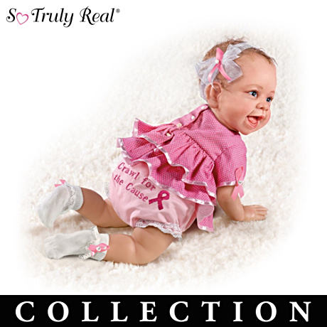 Breast Cancer Support Lifelike Baby Dolls