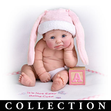 Miniature Baby Doll Collection With Hats And Blankets