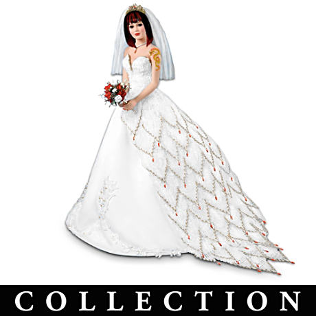 Fantasy Porcelain Bride Dolls With Dragon Tattoo Art