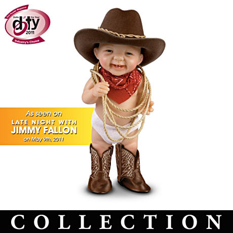 "Fully Sculpted ""Howdy Pardner"" Cowboy Dolls"