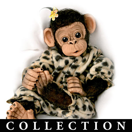 Realistic Baby Chimpanzee Dolls by Cindy Sales