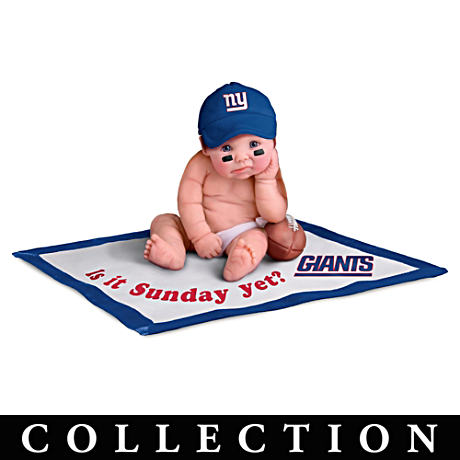 NFL Licensed New York Giants Baby Doll Collection