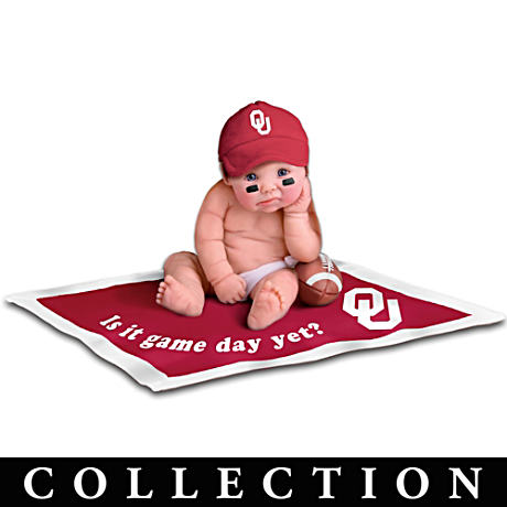 Officially Licensed Oklahoma Sooners Baby Doll Collection
