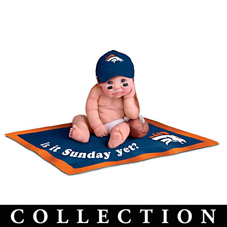 NFL Licensed Denver Broncos Fan Baby Doll Collection