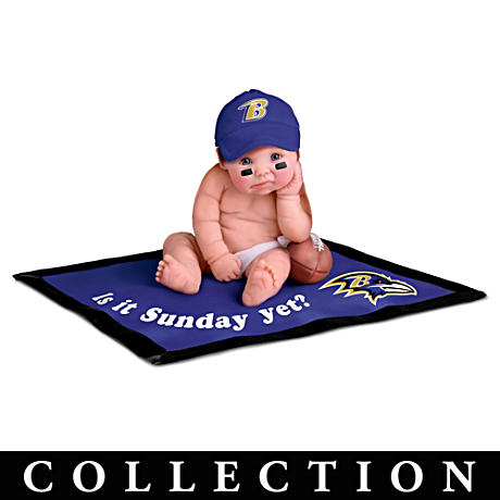 NFL Licensed Baltimore Ravens #1 Fan Baby Doll Collection