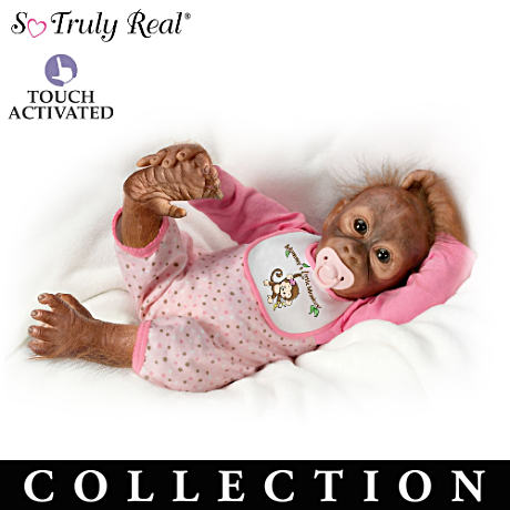 Interactive Baby Monkey Doll Collection By Melissa McCrory