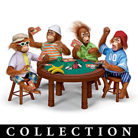 Poker Monkey Doll Collection
