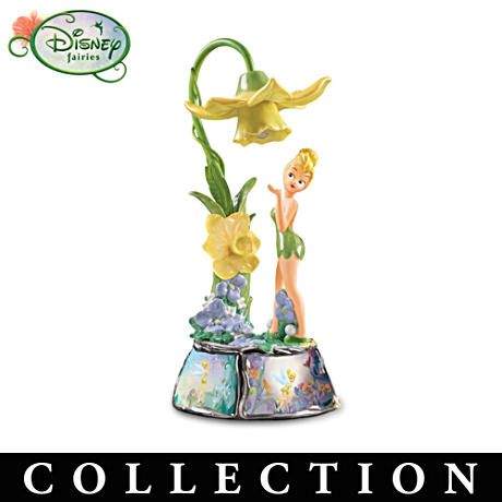 Disney Tinker Bell Floral Musical Lamp Collection