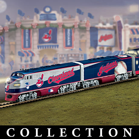 """Cleveland Indians Express"" Illuminated Electric Train"