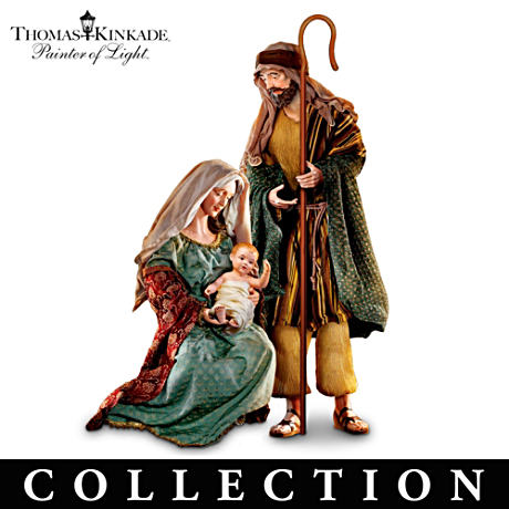 Thomas Kinkade Lifelike Holy Nativity Sculpture Collection