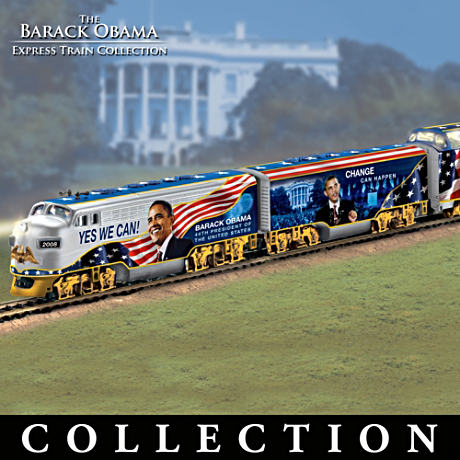 """The Barack Obama Express"" Illuminated Electric Train"