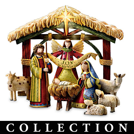 """Peace On Earth"" Debbie Mumm Nativity Figurine Collection"