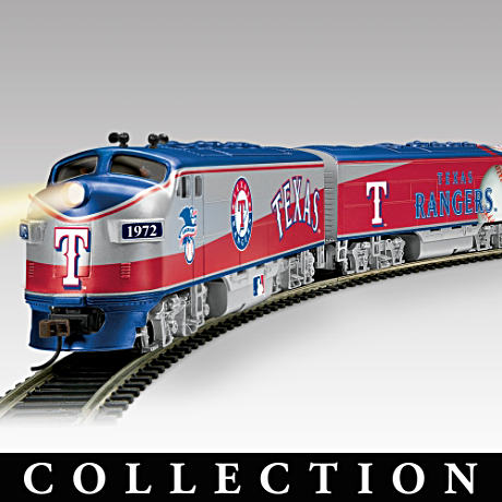 2011 World Series Champions Texas Rangers Train Collection