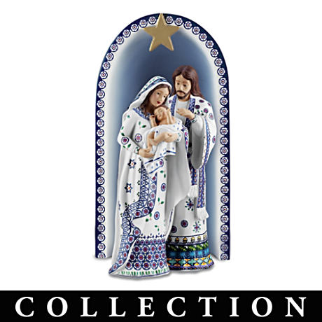 "The ""Silent Night"" Polish Stoneware-Style Nativity"
