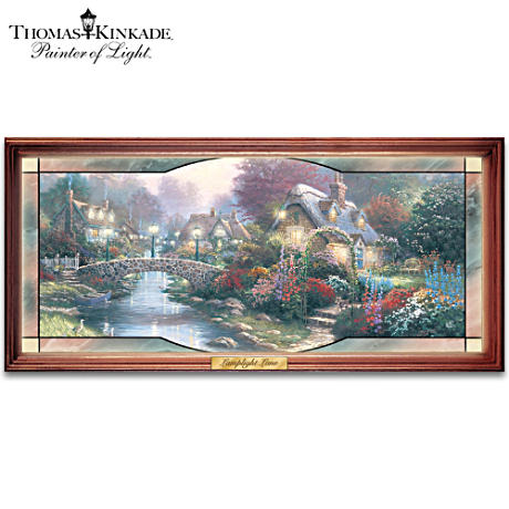 "Thomas Kinkade ""Garden Of Light"" Stained-Glass Panorama"