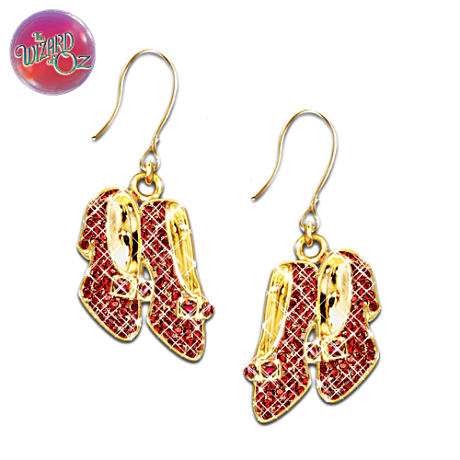 """Dorothy's Ruby Slippers"" Swarovski Crystal Earrings"