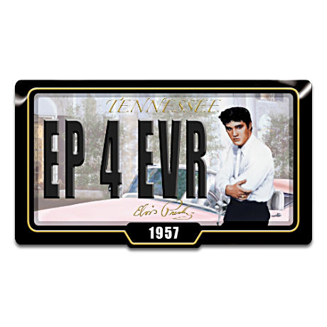 "Elvis Presley Memphis Dreams Collectible ""License Plate"""