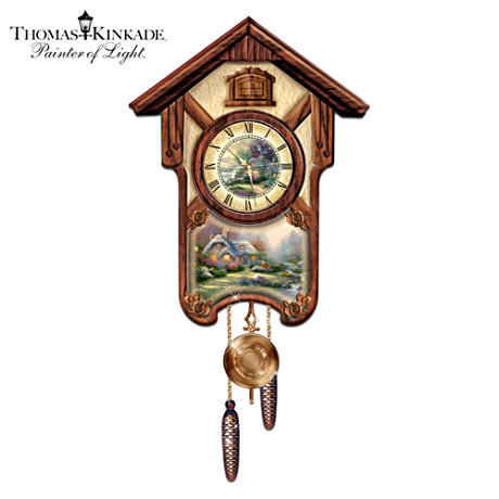 "Thomas Kinkade ""Timeless Memories"" Cuckoo Clock"