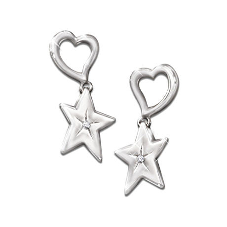 """My Granddaughter, My Shining Star"" Diamond Earrings"