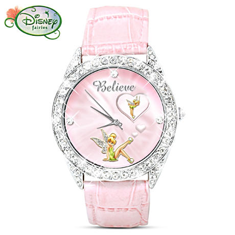 Disney Tinker Bell Swarovski Crystal Rotating Watch