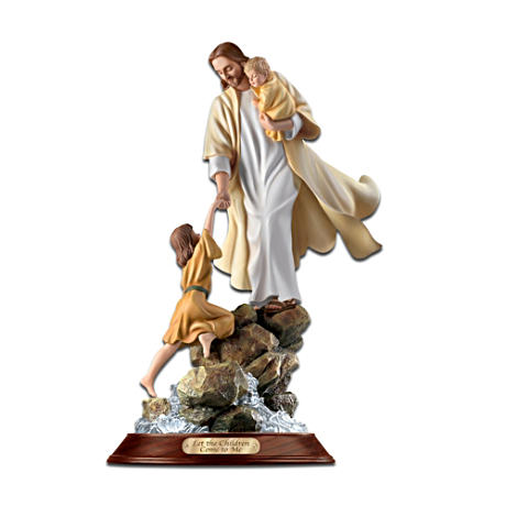 """Let The Children Come To Me"" Jesus Christ Figurine"