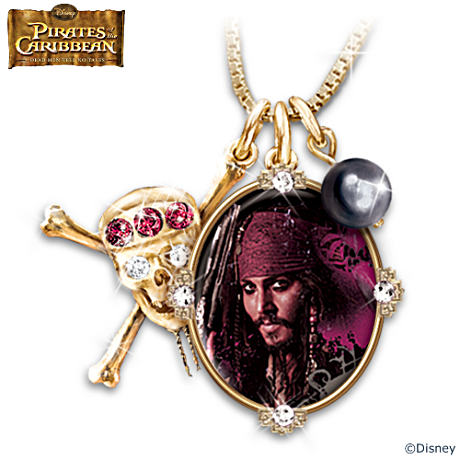 """Pirates Of The Caribbean"" Jeweled Pendant Necklace"
