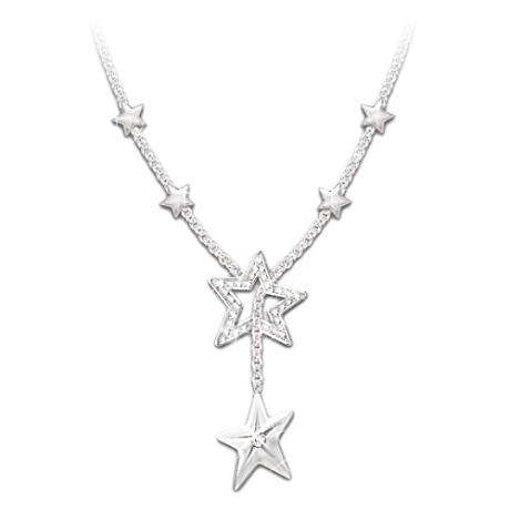 """My Shining Star"" Diamond Necklace For Daughter"