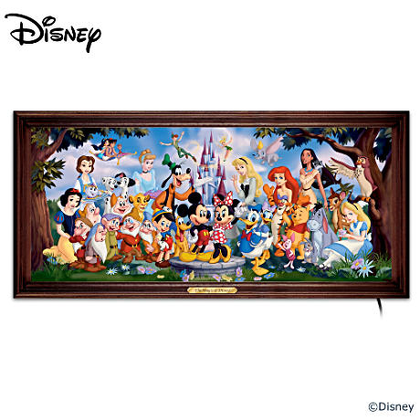 """The Magic Of Disney"" Stained-Glass Panorama"