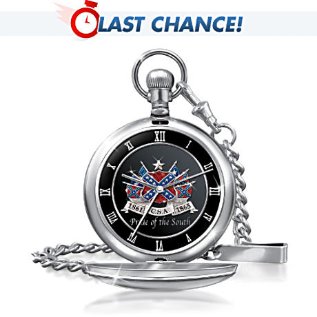 """Pride Of The South"" Precision Quartz Movement Pocket Watch"
