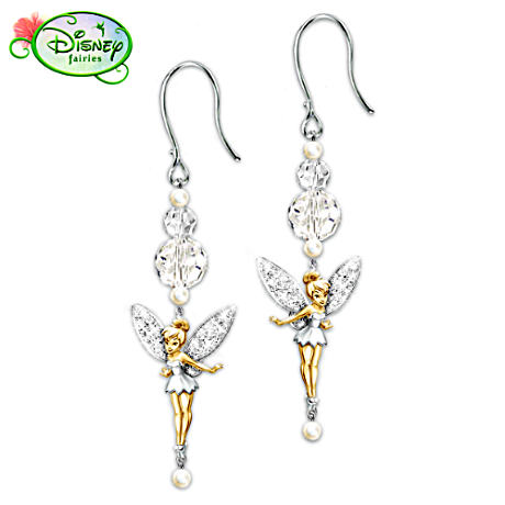 """Tinker Bell Dazzle"" Sparkling Drop Earrings"