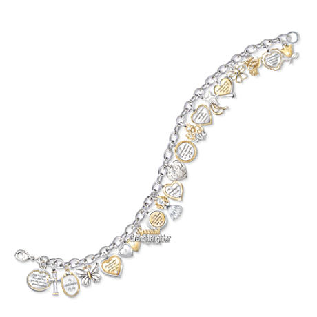 The Ultimate Granddaughter 20-Charm Bracelet