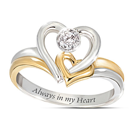"""Always In My Heart"" Two-Heart Diamond Ring"