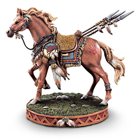 Native American-Inspired Horse Figurine