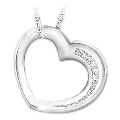 Diamond Engraved Pendant With Musical Case For Daughter