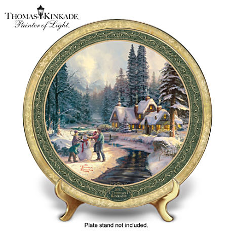 Official 2012 Edition Thomas Kinkade Annual Christmas Plate
